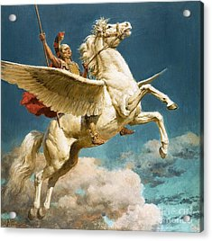 Pegasus The Winged Horse Acrylic Print by Fortunino Matania