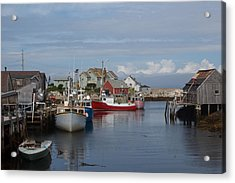 Peggy's Cove Acrylic Print by Nick Sayles