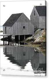 Acrylic Print featuring the photograph Peggy's Cove Sheds by Louise Peardon