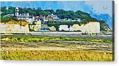 Acrylic Print featuring the digital art Pegwell Bay by Steve Taylor