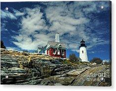 Pemaquid Lighthouse Acrylic Print by Alana Ranney