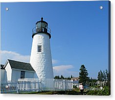 Acrylic Print featuring the photograph Pemaquid Lighthouse by Jeanne  Woods