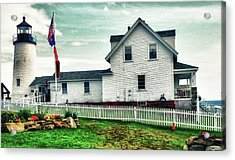 Acrylic Print featuring the photograph Pemaquid Lighthouse by Kelly Reber