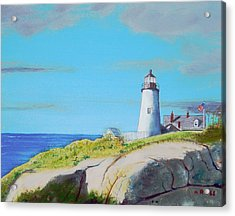 Pemaquid Point Light Acrylic Print by Anthony Ross