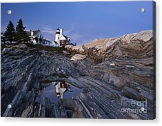 Pemaquid Point Lighthouse - D002139 Acrylic Print by Daniel Dempster