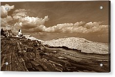 Pemaquid Point Lighthouse Acrylic Print by Skip Willits