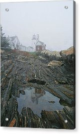 Pemaquid Reflection Acrylic Print by Mary Hershberger