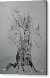 Pen And Ink Eleven Acrylic Print by AJ Brown