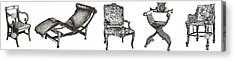 Pen And Ink Poster Of Chairs Acrylic Print by Adendorff Design