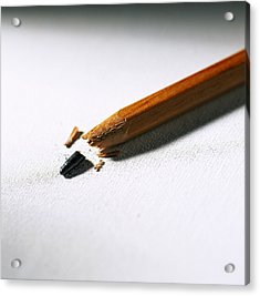 Pencil Acrylic Print by Kevin Curtis