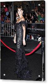 Penelope Cruz Wearing A Marchesa Dress Acrylic Print by Everett