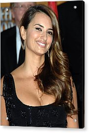 Penelope Cruz Wearing Yossi Harari Acrylic Print by Everett