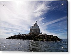 Penfield Reef Lighthouse Acrylic Print by Stephanie McDowell