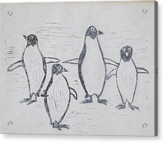 Penguins Acrylic Print by Tina M Wenger