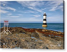 Penmon Point Lighthouse Acrylic Print by Adrian Evans