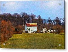 Pennsylvaina Farm Scene Acrylic Print by Bill Cannon