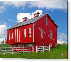 Pennsylvania Dutch Red Barn Acrylic Print by Brian Mollenkopf
