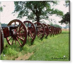 Pennsylvania's Confederate Cannon Acrylic Print by Antonio Brito