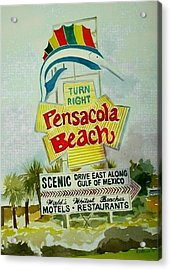 Pensacola Beach Sign Acrylic Print