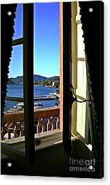 Villa D'este Window Acrylic Print