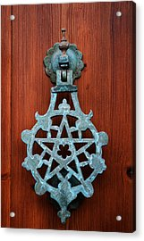Pentagram Knocker Acrylic Print