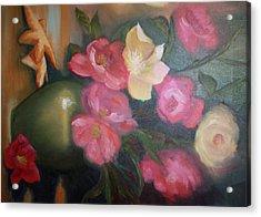 Peonies And Starfish Acrylic Print by Julliette Salter