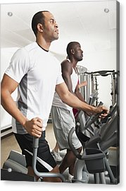 People Exercising In Health Club Acrylic Print by Erik Isakson