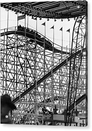 People On Roller Coaster Acrylic Print by George Marks