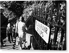 People Walking Down The Playfair Steps Down Into Princes Street Gardens Edinburgh Scotland Uk United Acrylic Print by Joe Fox