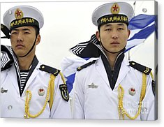 Peoples Liberation Army Navy Sailors Acrylic Print by Stocktrek Images