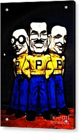 Pep Boys - Manny Moe Jack - Color Sketch Style - 7d17428 Acrylic Print by Wingsdomain Art and Photography