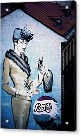 Pepsi Is Here - Pepsi Cola Ad In Prague Cz Acrylic Print by Christine Till