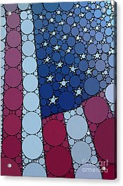 Percolated American Flag Acrylic Print by Christine Segalas