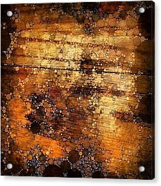 Percolated Painted Wood Acrylic Print