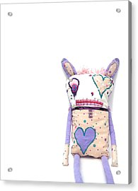 Percry Of The Cutie Patootie Zombie Bunny Twins Acrylic Print by Oddball Art Co by Lizzy Love