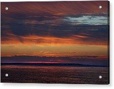 Perdido Pass Red Sunrise Acrylic Print by Michael Thomas