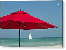 Perfect Beach Day Acrylic Print by Elvira Butler