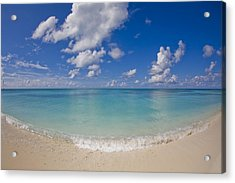 Perfect Beach Day With Blue Skies Acrylic Print by Mike Theiss