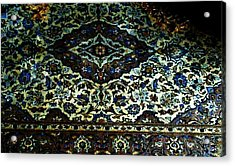 Persian Rug Acrylic Print by Unique Consignment