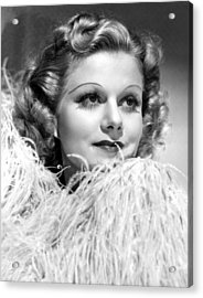 Personal Property, Jean Harlow, 1937 Acrylic Print by Everett