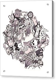 Peruvian Illustrated Journal Acrylic Print by Tyler Auman