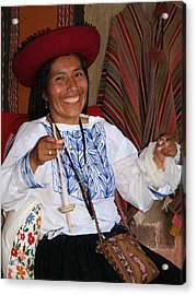 Peruvian Weaver Acrylic Print