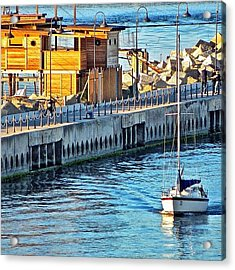 Pescara River And Sea Acrylic Print