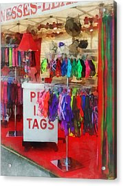 Pet Leashes And Harnesses For Sale Acrylic Print by Susan Savad