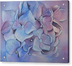 Acrylic Print featuring the painting Petals by Patsy Sharpe