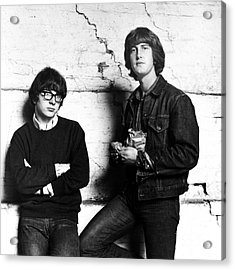 Peter And Gordon 1964 Acrylic Print by Chris Walter
