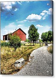 Peter Stuckey Farm Acrylic Print by Tom Schmidt