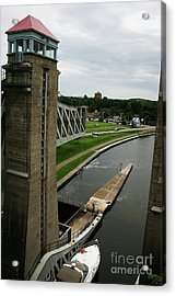 Peterborough Lift Lock Acrylic Print by Alyce Taylor