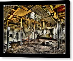 Acrylic Print featuring the digital art Peters Factory 03 by Kevin Chippindall