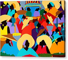 Petion-ville Market Diptych Acrylic Print by Synthia SAINT JAMES